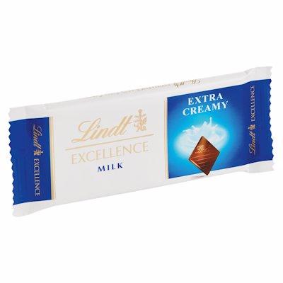 LINDT EXTRA CREAMY MILK CHOCOLATE SLAB 35G