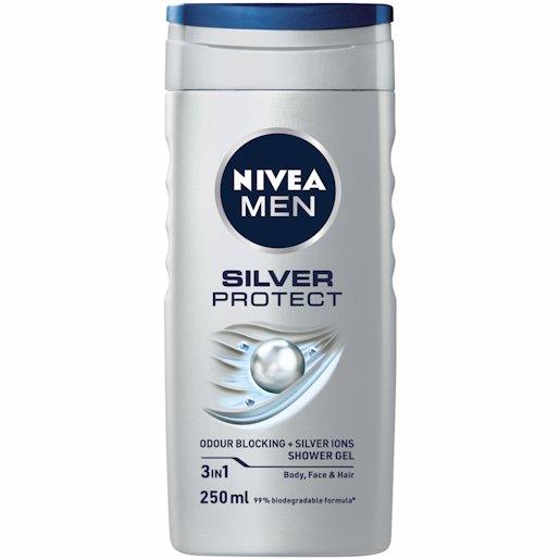 NIVEA SHOWER GEL SILV PRO 250ML