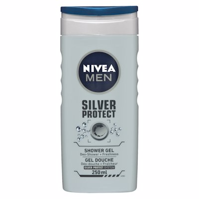 NIVEA MEN SHOWER GEL SILVER PROTECT 250ML