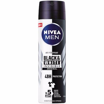 NIVEA MEN SPRY BLACK&WHIT 150ML