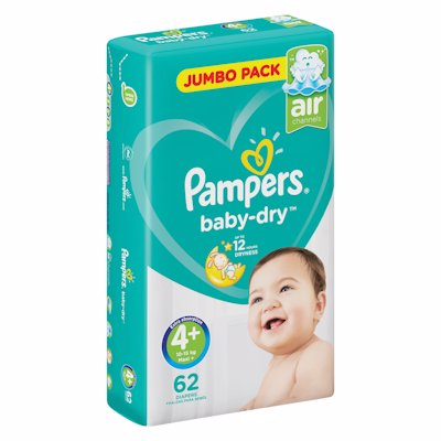 PAMPERS ACTIVE JP MAXI+4 62'S