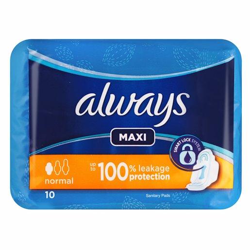 ALWAYS MAXI PLUS 10'S