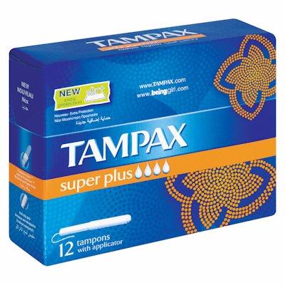 TAMPAX SUPER PLUS 12'S