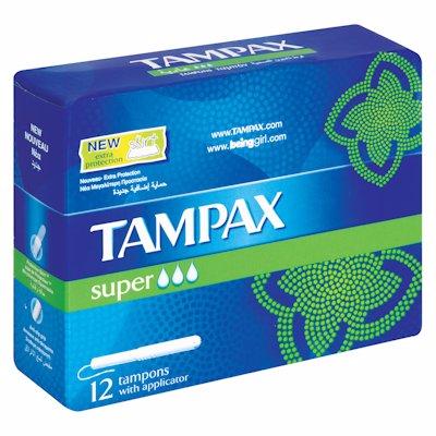 TAMPAX SUPER 12'S