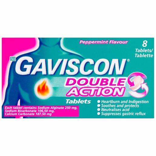 GAVISCON PLUS TABLETS 8'S