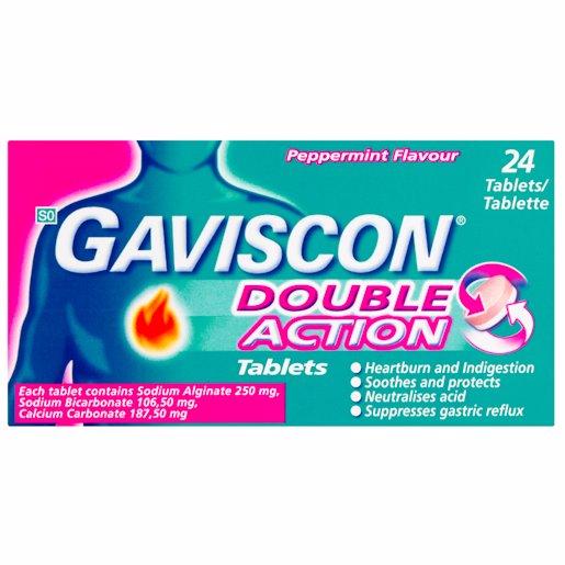 GAVISCON TAB ANTIACI PLUS 24'S