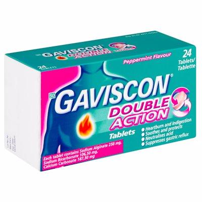 GAVISCON DOUBLE ACTION TABLETS 24'S