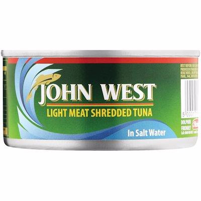 JOHN WEST SHREDED TUNA IN BRINE 170G