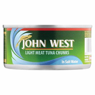 JOHN WEST TUNA CHUNKS IN BRINE 170G