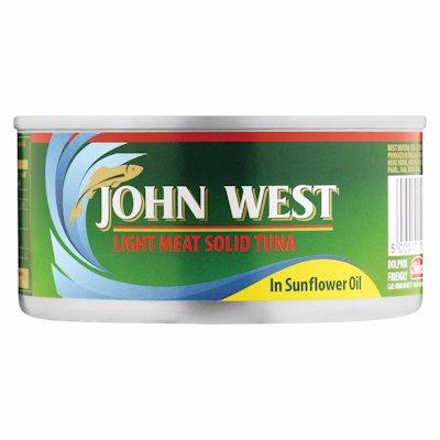 JOHN WEST SOLID TUNA IN OIL 170G