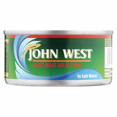 JOHN WEST SOLID TUNA IN BRINE 170G
