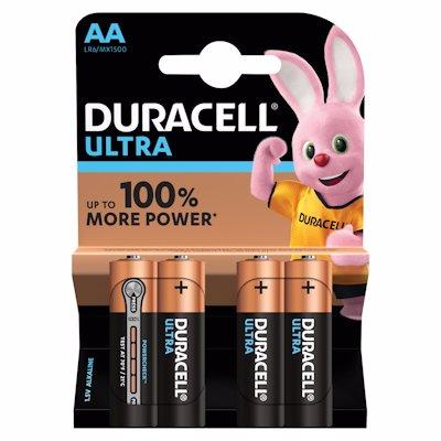 DURACELL ULTRA BAT AA 4KP 4'S