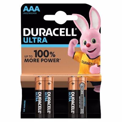 DURACELL ULTRA BAT AAA BATTERIES 4'S