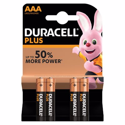 D/CELL BATT PLUS AAA 4'S