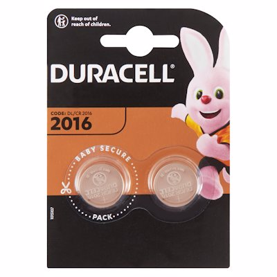 DURACELL COIN LITHIUM 2016 BATTERIES 2'S