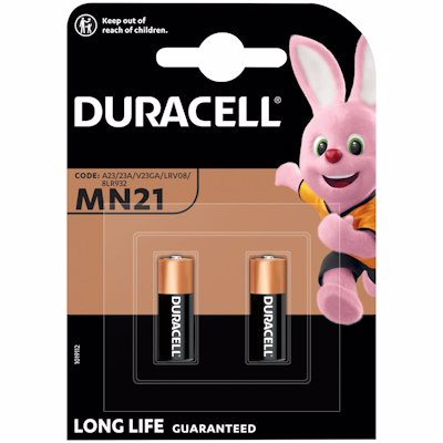 DURACELL REMOTE MN21 BATTERIES 1'S