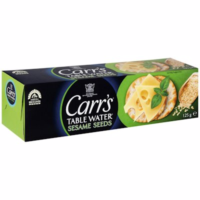 CARR'S SESAME SEEDS WATER BISCUITS 125G