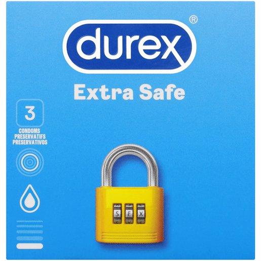 DUREX COND EXTRA SAFE 3'S