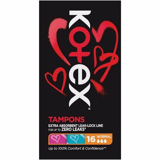 KOTEX TAMPONS NORMAL 16'S