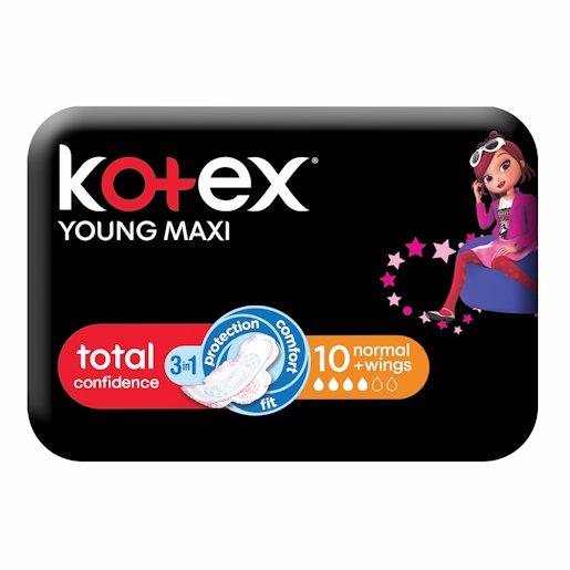 KOTEX MAXI YOUN NORM WING 10'S
