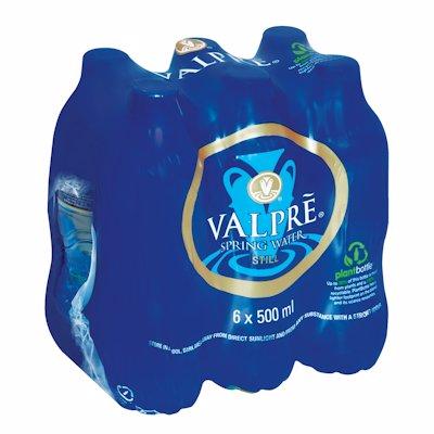 VALPRE SPRING WATER STILL 6 PACK 500ML