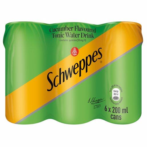 SCHWEPPES TONIC CUCUMBE_6 200ML