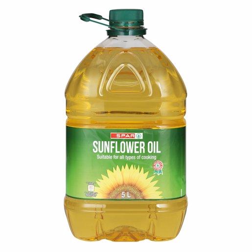 SPAR COOKING OIL SUNFLOWER 5LT