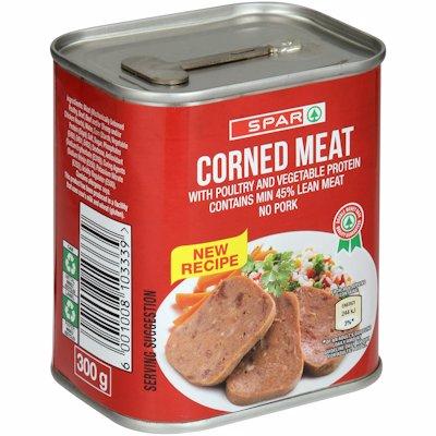 SPAR CORNED MEAT WITH POULTRY & VEGETABLE 300GR
