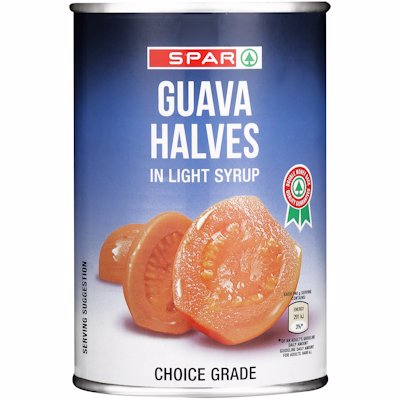 SPAR GUAVA HALVES IN KLIGHT JUICE 410G