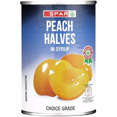 SPAR PEACH HALVES 410G