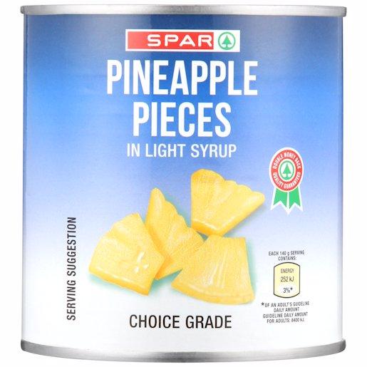 SPAR PINEAPPLE PIECES 440GR