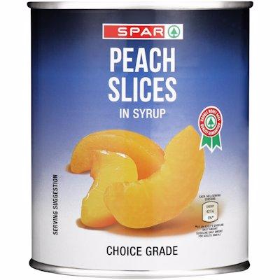 SPAR PEACH SLICES 825G
