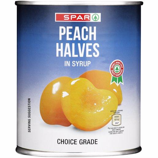 SPAR PEACH HALVES 825GR
