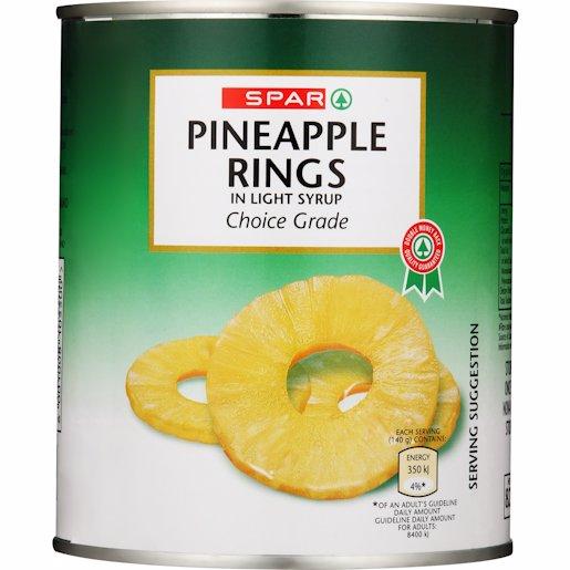 SPAR PINEAPPLE RINGS 825GR