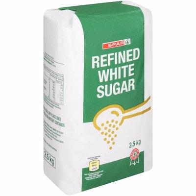SPAR REFINED WHITE SUGAR 2.5KG