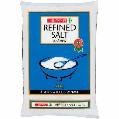 SPAR IODATED FINE SALT 500G