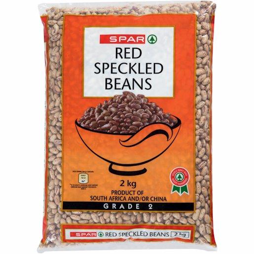 SPAR RED SPECKLED BEANS 2KG