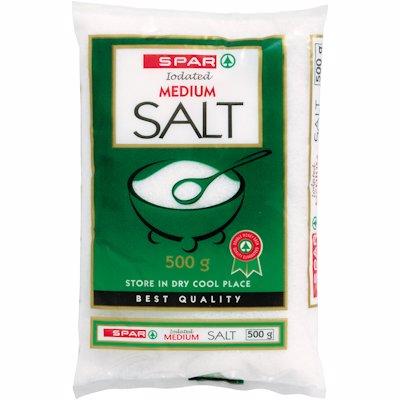 SPAR IODATED MED SALT 500G