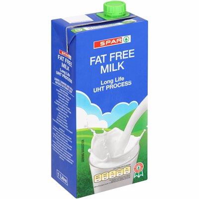 SPAR UHT FAT FREE MILK 1LT