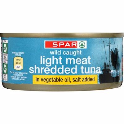 SPAR TUNA SHREDDED IN OIL 170GR