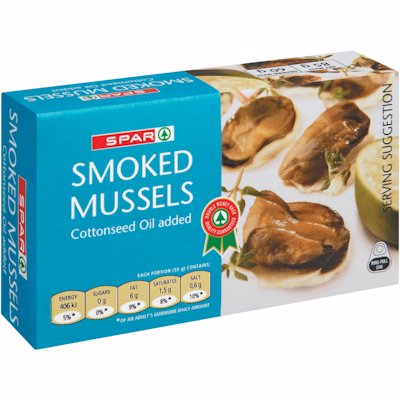 SPAR SMOKED MUSSELS IN COTTONSEED OIL 85G