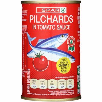 SPAR PILCHARDS TOMATO SCE 155GR