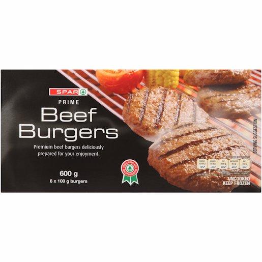 SPAR PURE BEEF BURGERS 600G