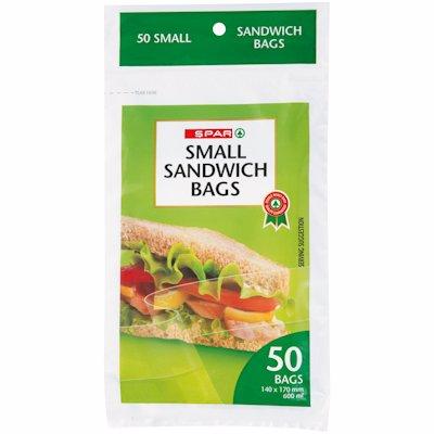 SPAR SMALL SANDWICH BAGS 50'S