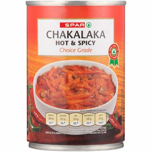SPAR CHAKALAKA HOT+SPICY 410G