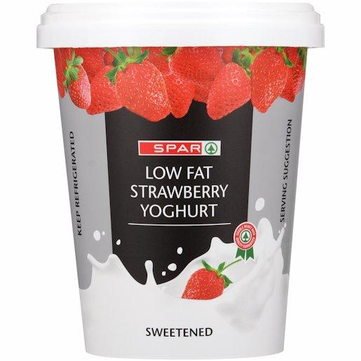 SPAR L/FAT YOG STRAWBERRY 500GR