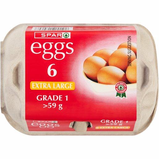 SPAR EGGS EXTRA LARGE 6'S