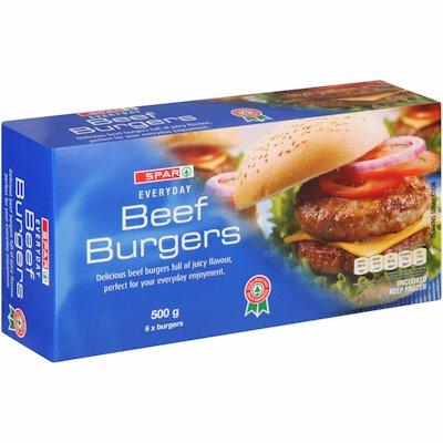 SPAR BEEF BURGER 500G