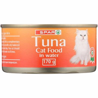 SPAR TUNA CAT FOOD IN WATER 170G