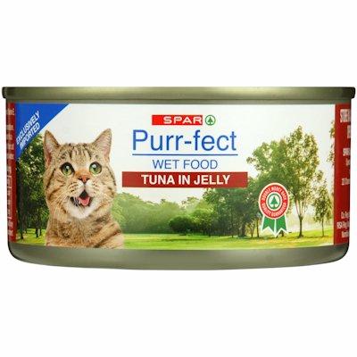 SPAR TUNA CAT FOOD IN JELLY 170G